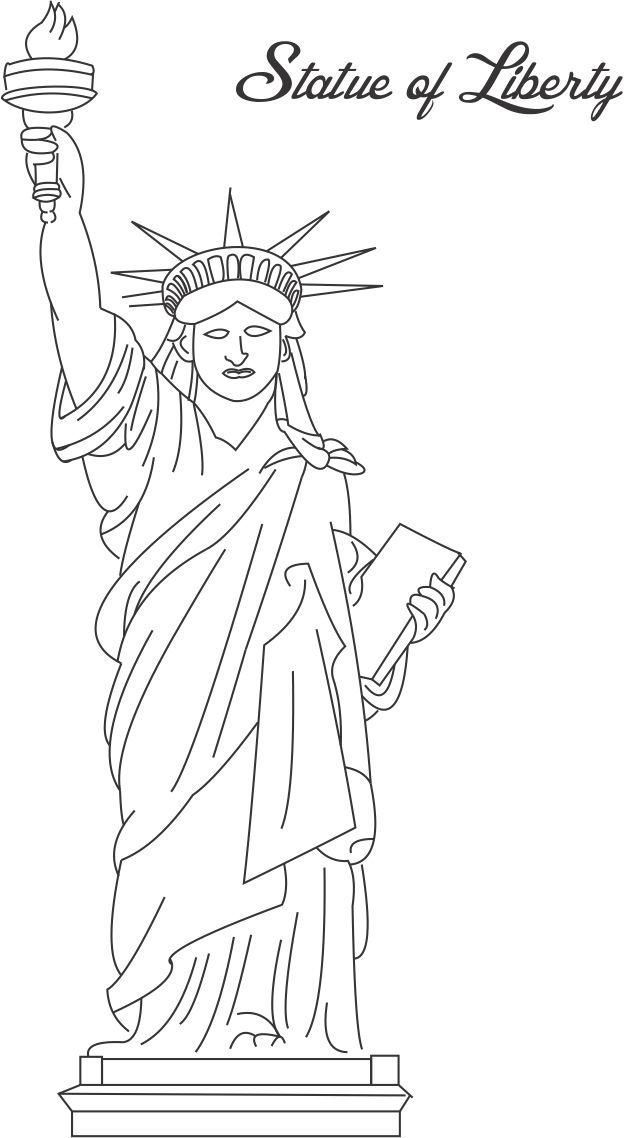 statue of liberty coloring page pdf