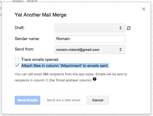 mail merge with pdf attachment