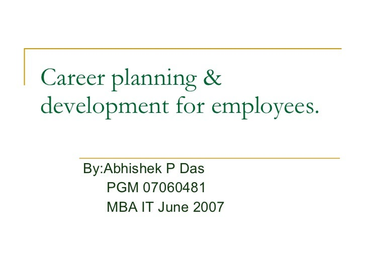 career planning and development in hrm pdf