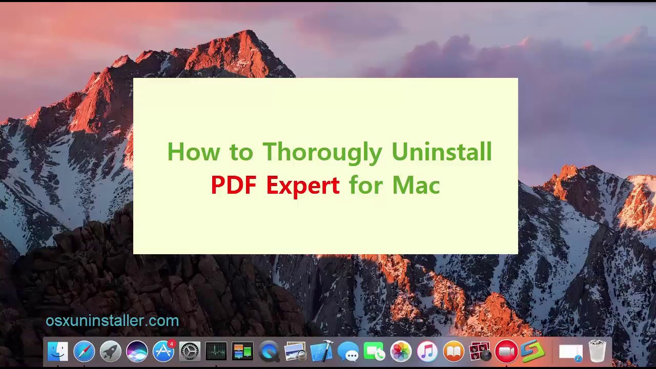 how to use pdf expert on macbook