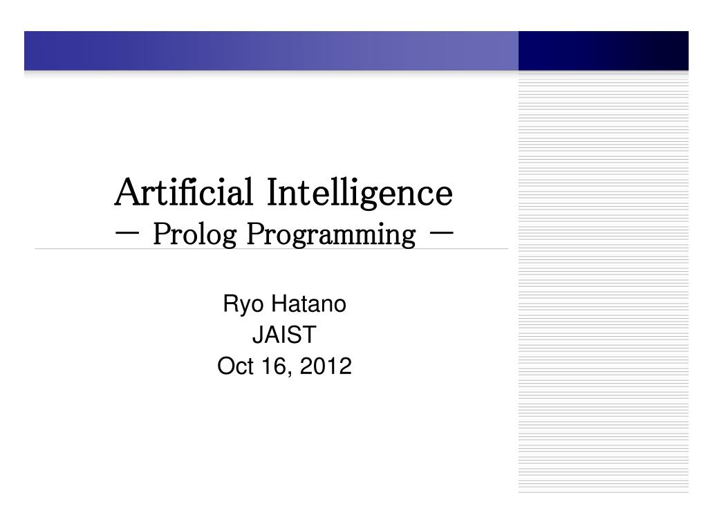 prolog in artificial intelligence pdf